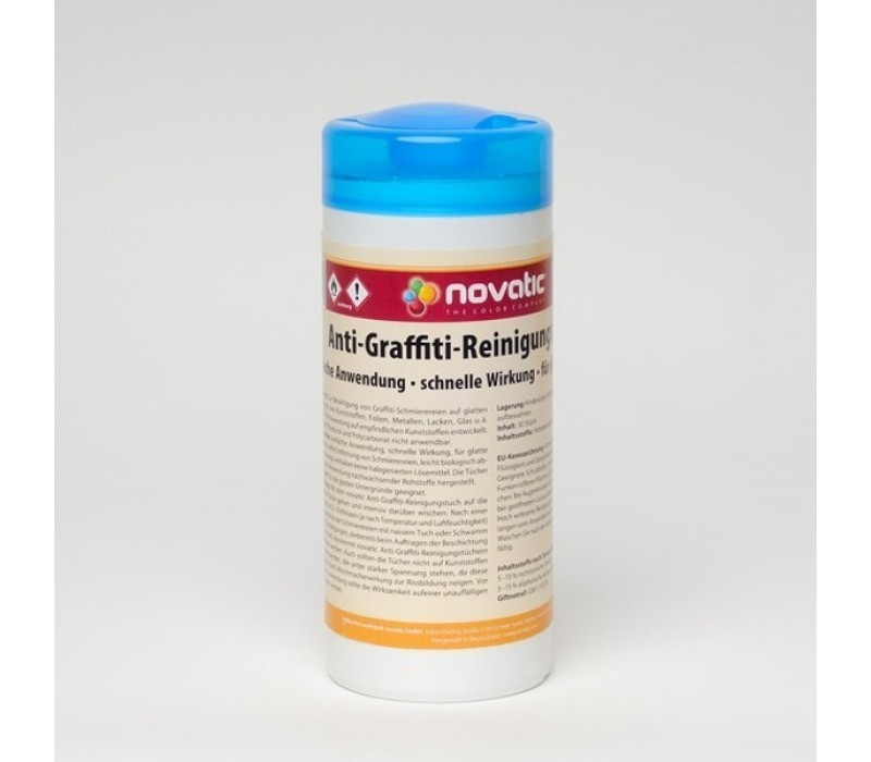 novatic Anti-Graffiti-Reinigungstücher, 30 Tücher